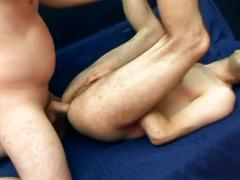 Deep down anal attack as horny young twinks open holes wide