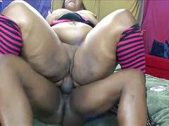 Big beautiful black bitch gets fat pussy pounded