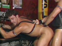 Vintage leather studs cock sucking and ass fucking