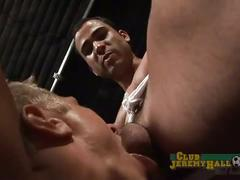Sexy muscular jocks give each other blowjobs and ball sucking