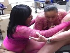 Phat ebony cocksuckers love to share action
