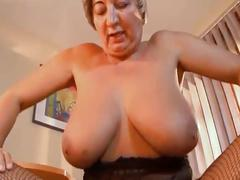 Grandma gets dicked hard from younger man