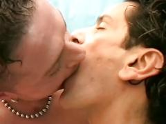 Dong loving studs in hardcore itallian style anal stretching