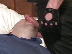 Hot bdsm chub cock sucking and face fucking