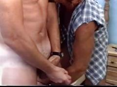 Hot vintage military bear cock sucking and ass fucking