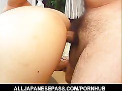 Fuuka takanashi is filled with hot man batter after fucking 2 guy