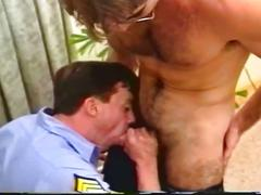 Cock loving muscled cops engaging in furious holes pounding