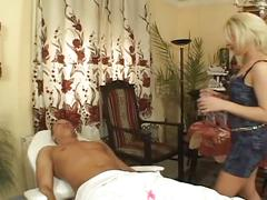 Blonde works some magic and gets hardcore fucked