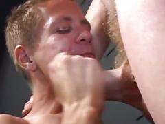 Deep throat cum as horny charmer gags for so much cock pleasure