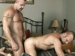 Muscled daddies adam rogue and chad brock delightful pouning