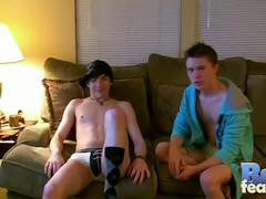 Hot teen boys first time on cam giving naked blowjobs