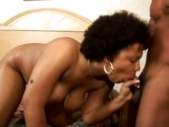 The black queen drilled by another hard black dick