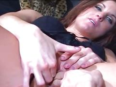 Cum starving brunette down for hardcore anal fever
