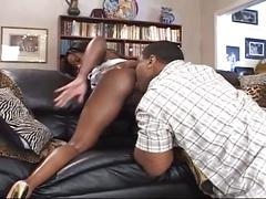 Awesome pounding with ebony bubble butt and huge black cock