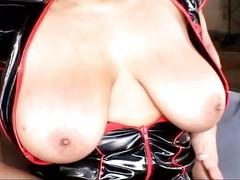 Busty ebony gets hard black cock to fuck