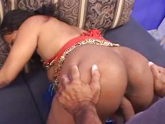 Hot ebony gets fucked by big cock