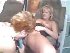 Emily davinci seduced by a blond milf go lesbian with dildo