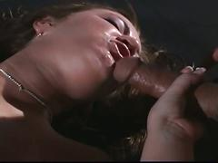 Devilish brunette stripper furious anal assault in office