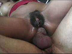 Two horny ebony bitches with hariy pussies