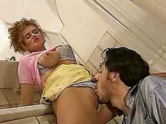 British slut nikki platts gets fucked in the kitchen
