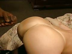 Sexy blonde milf loves sex with big black dick