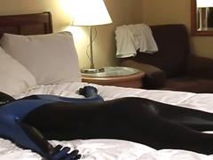 Pig daddy in hot spandex fucking horny slave for some kinky fun