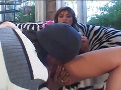 Extreme hardcore sex-best looking babe drilled by two black dicks