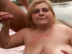 Fat blonde at the phat farm sucks and is hardcore fucked