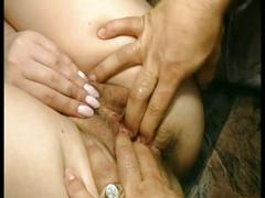 Blonde babe fucked hard by an cow boy