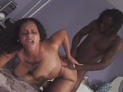 Thick and black boner drilling massive tits ebony slut