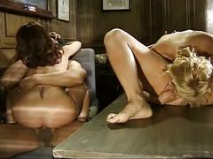 Coed kelly and two other babes fuck the principal