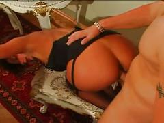 Brunette gets hardcore ass fucked and goes to mouth