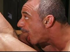 Army stud sucks and fucks mature captain's cock