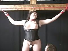 Chubby latina beauty in a bondage audition
