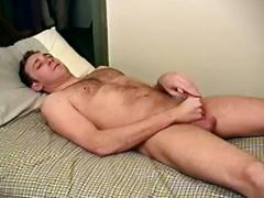 Yummy amateur hairy stud strips and jerks his big cock in solo