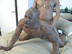 Monster black cock collides in hardcore ebony style anal pumping