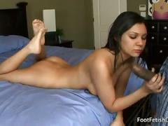 babe, big dick, blowjob, brunette, foot fetish, interracial, 10 inch, beauty, big cock, black hair, black on white, chick, cutie, deepthroat, face fucking, gagging, glamour, sexy feet, toe sucking