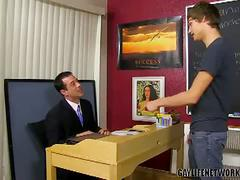 Teaching naughty student with blake allen and mike manchester