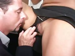 Fantasy movie with busty brunette fucking