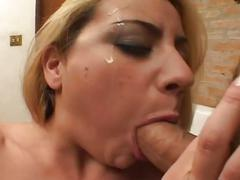 Busty blonde milf fucked at the titanus