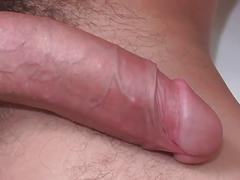 Gorgeous young muscled boy jerks his huge fresh cock in shower