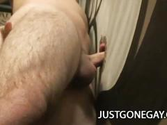 Lustful stud from work billy dewitt fucks glory hole with big cock