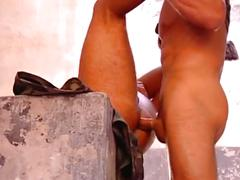 Soldier hunks have hardcore anal pounding