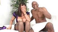 Busty milf ava devine takes a black cock in her ass