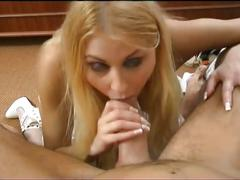 Horny blonde babe get hard fucked by a hard cock !