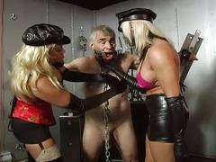 Two horny slut tortured a old man !