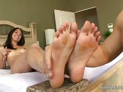 Foot fetish couple fucks like there is no tomorrow