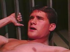 Horny muscled hunks in prison pounding tight holes behind bars