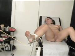 Horny patients getting vibrator into her pussy by nurse and doctor !