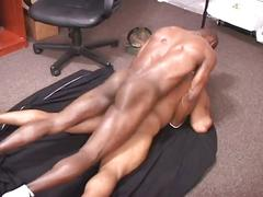 Monster black cocks collide as horny ebony studs inject tight ass